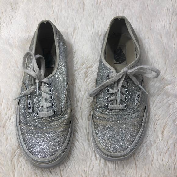 163adb03db VANS Womens 9 Silver Glitter Chunky Lace Shoes. M 5a8aeaf361ca10186a50cd11
